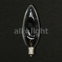 TOKIシャンデリア電球E12口金クリヤー40W100110V40C32CE12K