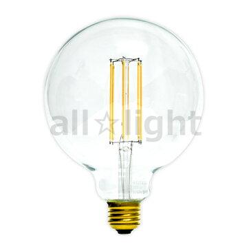 ☆舶用電球 ヴィンテージLED電球 エジソンバルブ(エジソン電球) クリア ボール電球形 直径125mm(G125) 3W 電球色 2700K E26口金  ストレートフィラメント G1256F2