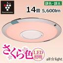 【送料無料】☆シャープ LEDシーリングライト 薄型サークルタイプ さくら色LED照明 14畳用...