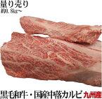 九州産 和牛・国産牛中落カルビ 約1.0kg前後 超希少 処理済リブフィンガー 鮮度抜群 急速真空冷凍直送