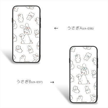 Caho ガラス プリント TPU ケース うさぎ スマホケース カバー iPhoneX iPhone8 iPhone8Plus iPhone7 iPhone7Plus iPhone6s iPhone6sPlus iPhone6 iPhone6Plus Galaxy S9 Huawei スマホカバー 携帯 ケース カバー