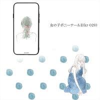 カーリィガラスプリントTPUケース女の子ポニーテールスマホケースカバーiPhoneXiPhone8iPhone8PlusiPhone7iPhone7PlusiPhone6siPhone6sPlusiPhone6iPhone6PlusGalaxyS9Huaweiスマホカバー携帯ケースカバー