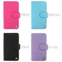 スマホケース手帳型全機種対応オーダーキルトイニシャルデコiPhoneXiPhone7/8XperiaXZXZ1XZsaquosアイフォン8