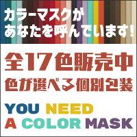 17色 個包装 カラーマスク 不織布 血色マスク 50枚セット マスク 不織布 不織布マスク
