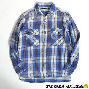 JACKSONMATISSE(ジャクソンマティス)BeachNelShirtsBlue