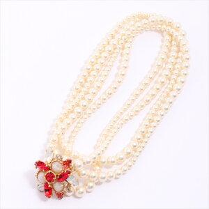 [使用] Miu Miu项链长GP白色假珍珠珠宝标签可用