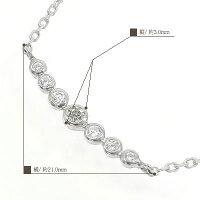 4月の誕生石ネックレスダイヤモンドプラチナ900ペンダント