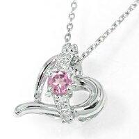ピンクトルマリンハートネックレスk18ホワイトゴールドダイヤモンド流れ星スターレディース母の日誕生日プレゼント2014記念日エトワール02P06May14