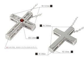 誕生石インディアンクロス十字架弓矢矢アロー2個セットプラチナペアネックレスレディースメンズセット価格【送料無料】