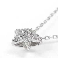 プラチナ星ネックレスダイヤモンド流れ星ペンダント