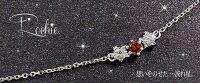 ガーネット流れ星ネックレス18金誕生石ダイヤモンド星ペンダント母の日02P06May14