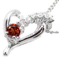 ガーネットネックレスk10ホワイトゴールドハートダイヤモンド流れ星スターチャームレディース母の日誕生日プレゼント2014記念日エトワール02P06May14