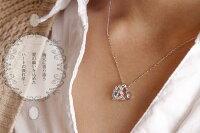 サファイアハート流れ星ネックレス10金美しい誕生石ペンダント