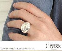 メンズリングクロスプラチナ指輪印台ユニセックスダイヤモンド【_包装】