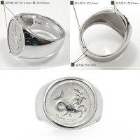 星座リングやぎ座(12/22~1/19)ユニセックスシルバー925指輪ピンキー印台リング