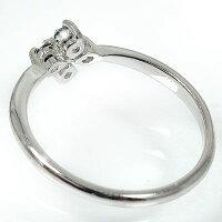 婚約指輪ブラックダイヤモンドクロスプラチナ900エンゲージリング