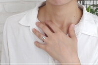 流れ星ダイヤモンドリング18金ルメートピンキー指輪