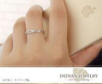 インディアンジュエリーネイティブアメリカンピンキーリング矢アロー大人エタニティ指輪10金サファイア誕生石