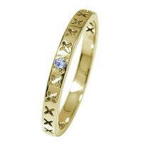 インディアンジュエリーネイティブアメリカン10金ピンキーリング誕生石矢アロー大人エタニティ指輪タンザナイト