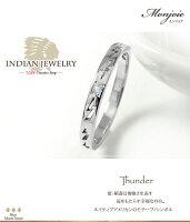 ブルームーンストーンリングプラチナインディアンジュエリーネイティブアメリカン誕生石ピンキー雷稲妻サンダー大人エタニティ指輪