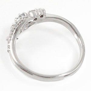 ダイヤモンドリング 18金 結婚指輪 婚約指輪 エンゲージリング 0.27ct ダイヤモンド ピンキーリング レディース ユニセックス 誕生日 2019 記念日 母の日 プレゼント