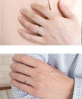 ダイヤモンドマリッジリングペアリング2本セット結婚指輪指輪18金誕生石レディースメンズセット価格【送料無料】