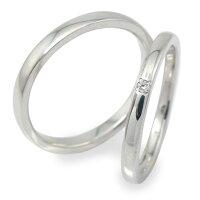 プラチナダイヤモンドリングマリッジリングペアリング指輪誕生石ミルグレイン2本セット結婚指輪レディースメンズセット価格【送料無料】