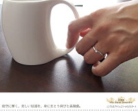 ダイヤモンド指輪流れ星0.15ct18金ピンキーリング