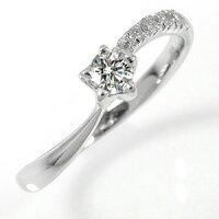 婚約指輪ダイヤモンド流れ星0.15ct18金エンゲージリング