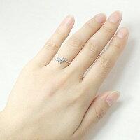 ブルームーンストーンリング指輪プラチナ900クロスダイヤモンドピンキーリング