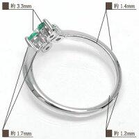 ペリドットクロス指輪プラチナ900ピンキーリング