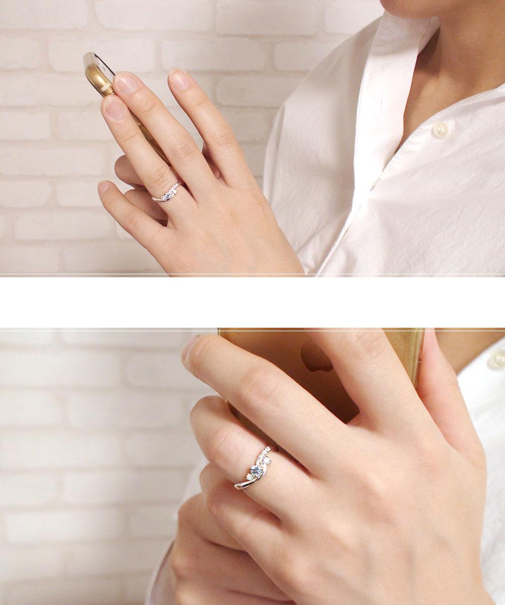 プラチナ ブルートパーズ ハート リング 誕生石 天使の矢 ピンキー 指輪