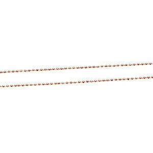 ハワイアンジュエリー/14Kピンクゴールドダイヤカットチェーン40cm
