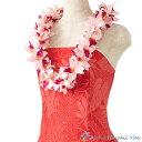 フラダンス レイ バンダオーキッドレイ ピンク フラダンス衣装 ハワイアンレイ フラ フラレイ ピンクのレイ ラン オーキッド