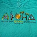 ハワイ限定!ディズニー ALOHA Tシャツ(女性用)※薄手の生地※日本のワンサイズ下が目安です。例:日本サイズMの場合、アメリカSサイズ。※北海道・九州は1万円以上で送料無料!(沖縄のぞく)