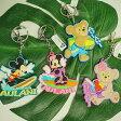 ハワイ限定!ディズニーAULANI(アウラニリゾート) 3D ミッキー、ミニー、ダッフィー、シェリーメイ キーホルダー シリコン・ゴム製 1種類1個の値段です。※ご希望の種類をお選びくださいませ♪