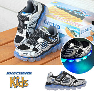 [POINT最大35倍][55%OFF]SKECHERS suketchazu[90520L]Skech-Air Lightz(SLBK)男孩運動鞋小孩運動鞋小孩鞋10P03Dec16