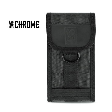 クローム スマホポーチ CHROME INDUSTRY [ AC126 ] LARGE PHONE POUCH BLK ラージフォン ポーチ 携帯ケース リュック [0315]【SPS09】