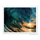 【ハワイアンアートプリント】ビーチ・海・山・植物・景色・風景・MorningColor-HawaiianWave(ハワイの波)(WillyamBradberry)ハワイアンインテリア・アート・絵画・アーティスト