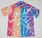 アロハシャツ/メンズ/半袖/H1Sportswear(H1スポーツウェア)/H1004/紫・青・桃・オレンジ/大きいサイズ/人気/プレゼント/ギフト/父の日/イベント/縦柄/葉/観葉植物/限定品/ブランド/コットン100%|開襟(オープンカラー)/送料無料