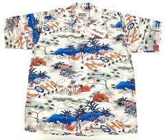 アロハシャツ|AVANTI SILK(アヴァンティ シルク)|A1018WHT|半袖|ホワイト…