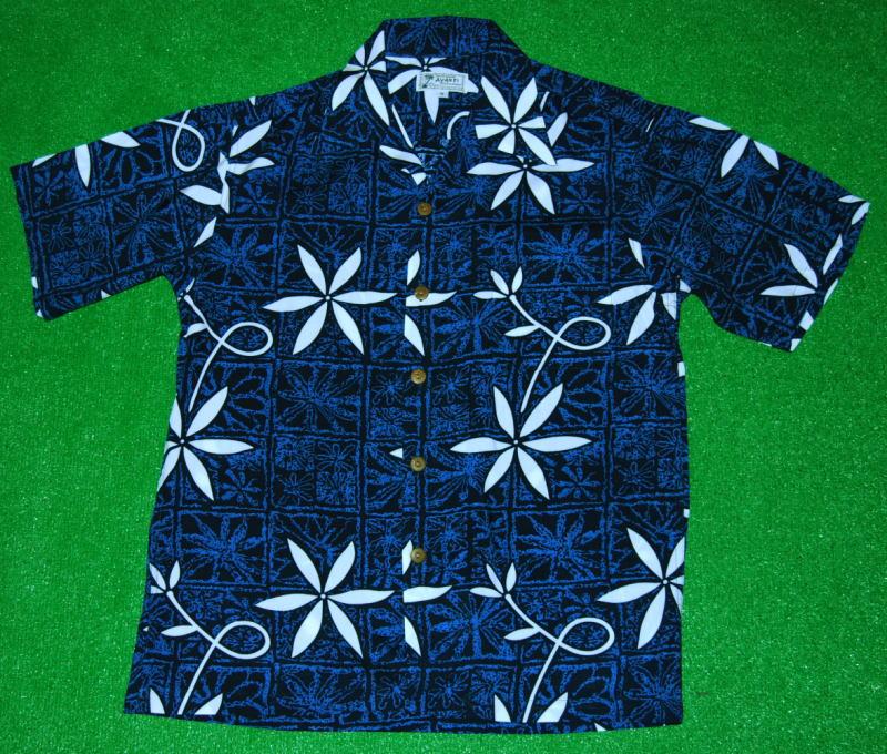 アロハシャツ|AVANTI SILK(アヴァンティ シルク)|A833B|半袖|メンズ|ブルー(青・紺色)|エルビス・プレスリー|ブルーハワイ|ヴィンテージレプリカ|レーヨン100%|開襟(オープンカラー)|送料無料商品