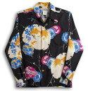 長袖アロハシャツ|MAKANALEI(マカナレイ)|AMT037SPLBK|ブラック(黒)|和柄|金魚柄|シルク(膨れジャガードシルク)100%|開襟(オープンカラー)|送料無料商品!