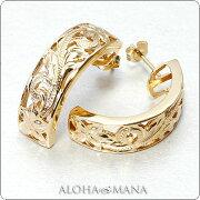 ハワイアン ジュエリー アクセサリー レディース ゴールド スタッド プルメリア・プリンセス イエロー ホワイト バレンタイン プレゼント