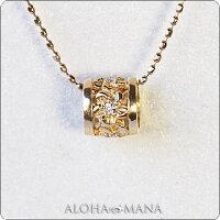 ネックレスハワイアンジュエリーレディース女性ダイヤモンドプチバレルゴールドペンダントトップK14/K18/プラチナ900(付属チェーンなし)apdo6498プレゼントギフト
