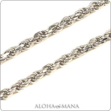 【数量限定】ネックレス ハワイアンジュエリー ネックレス (Weliana)ネックレス カットロープチェーン幅1.0mm(長さ40cm・45cm・50cm)K14ホワイトゴールド dchwrop11040:アロハマナ