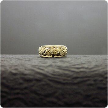 マリッジリング 結婚指輪 ハワイアンジュエリー リング レディース 女性 メンズ 男性 (Weliana)ONLYONE ゴールドリング カレイキニ K14/K18/pt900 二重構造デュアルトーン オーダーメイド ハンドメイド