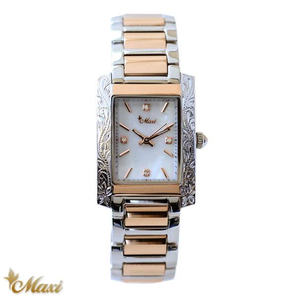 ハワイアンジュエリー腕時計レディース女性アクセサリー Maxi マキシxVicenteコラボウォッチ白蝶貝シェルmwz1371/
