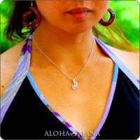ハワイアンジュエリー[Maxi]スクリプト・イニシャルペンダントトップ・アクセントダイヤモンドK14PINKGOLDmxpd0101pg