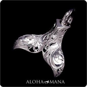 ハワイアンジュエリー[Maxi]ペンダントホエールテールSV925ブラックゴールドポリッシュmxpd0168bgp